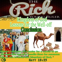 Kingdom of God Lessons for the Well-off and Comfortable – Conclusion