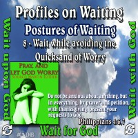 Profiles on Waiting – Posture – Wait while avoiding the Quicksand of Worry